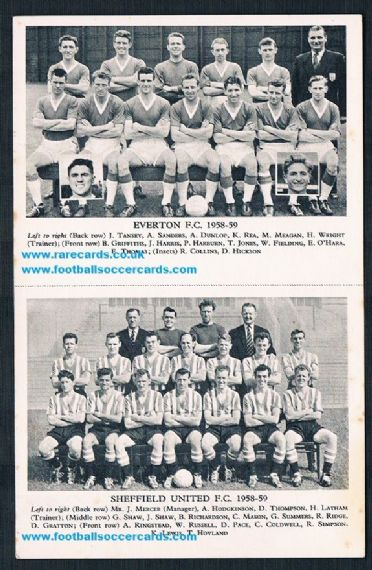 1958 Lion pair as issued Everton Sheff U